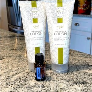 DoTERRA hand and body lotion and Peppermint oil